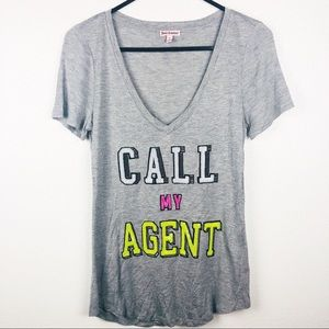 Juicy Couture | Call My Agent Gray Graphic T-Shirt